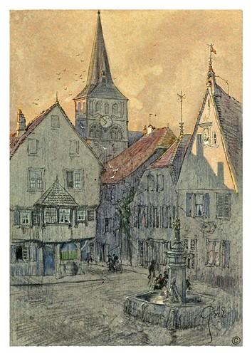 013-Türckheim puesta de sol-Alsace-Lorraine-1918- Edwards George Wharton