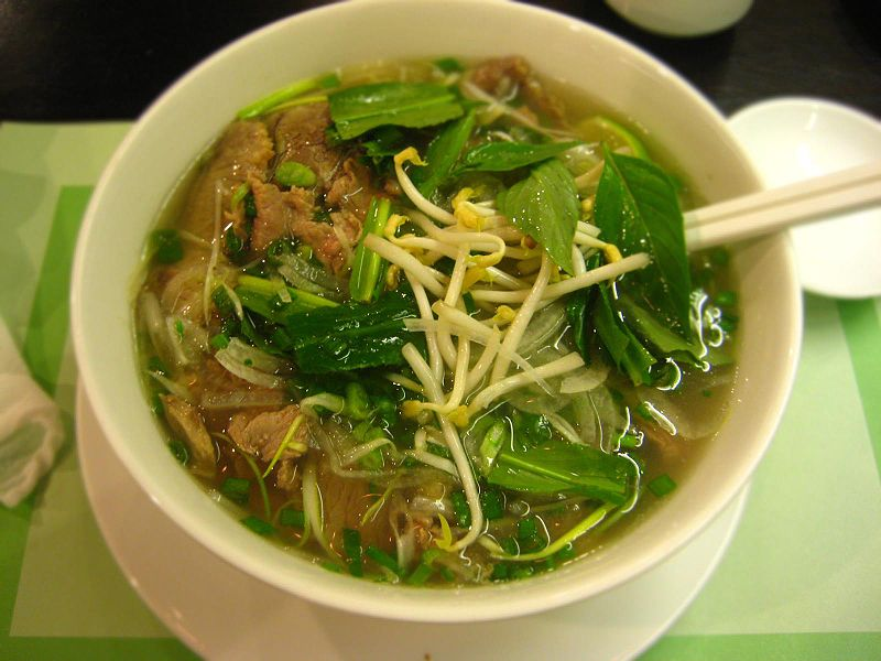 for of type pho noodle a rice of is white noodles with served bowl cut a in Phở specific