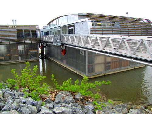 The John MS Lecky UBC Boathouse at the Middle Arm waterfront in Richmond