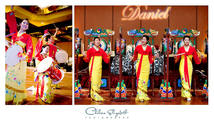 Korean Dancers at Los Angeles Universal Hilton Wedding Reception