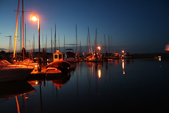 IMG_2073 copy_filtered (L Armstrong Photography) Tags: sunset water night sailboat marina lights boat dock bc darkness calm sidney