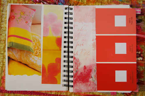 Pink Notebook: pink and yellow