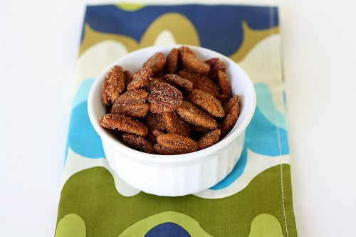 Warm Spiced Pecans with Rum Glaze