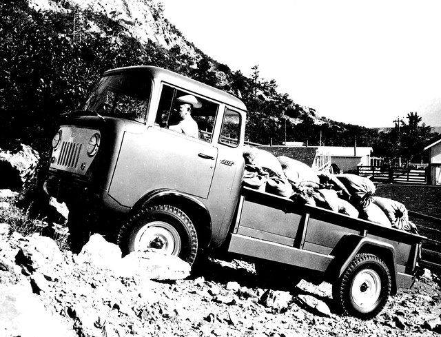 jeep forward control 4 wheel drive pickup truck 4x4 pick up car cars vintage auto automobile vehicles vehicle autos photo photos photograph photographs automobiles antique picture pictures image images collectible old collectors classic ad advertisement postcard post card postcards advertising cards magazine flyer prestige brochure dealer album press kit fc170 fc 170