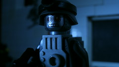 Lego Robot Soldier (Force Movies Productions) Tags: lego robot driod cyberman terminator brickarms bricks toy minifig action tech apocalypse postapocalypse movie film soldier trooper machine creepy spooky weapons scifi science fiction fan fandom dark photo photograpgh picture