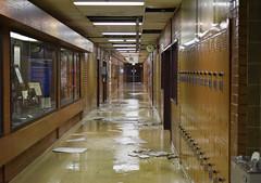 Great Flood of 2017 (aaronrhawkins) Tags: flood water clydebuilding engineering byu brighamyounguniversity freeze leak pipe hallway damage ceiling tiles destruction wet emergency campus building work aaronhawkins