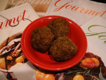Meatballs from Jan 09 Gourmet
