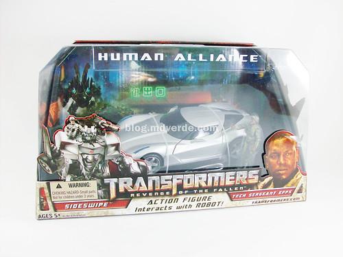 Transformers Sideswipe RotF Human Alliance - caja