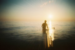 . (Rebecca...) Tags: uk sunset film 35mm polaroid cornwall surf surfer plasticfantastic flare crapcam sunsetsession disposable 800asa bitwobbly disposaroid