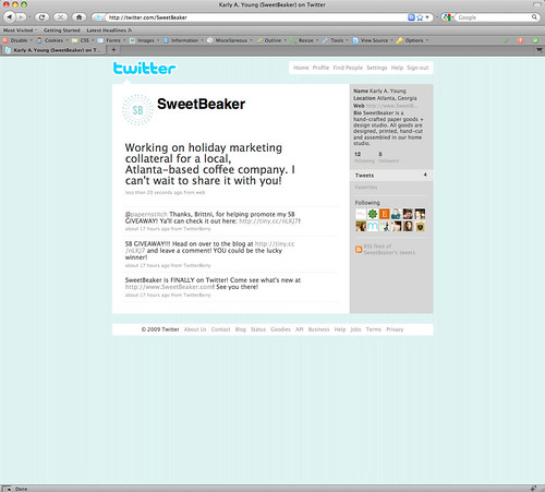SweetBeaker Is Now On Twitter