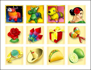 free Jackpot Pinatas slot game symbols