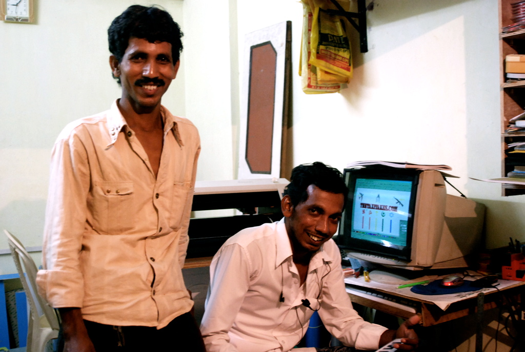 The two brothers who run Akram Studio