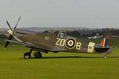 G-ASJV - MH434 - CBAF.IX.552 - Old Flying Machine Company - Supermarine 361 Spitfire LF9C - Duxford - 060903 - Steven Gray - CRW_6469