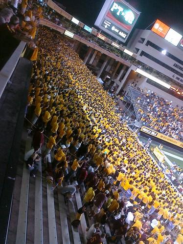 ASU student section at Sun Devil Stadium