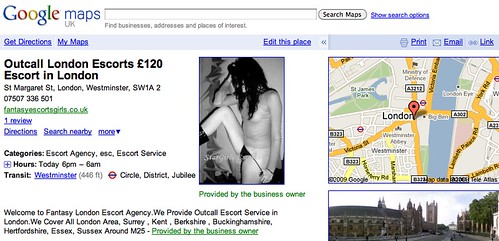 Seductive Images on Google Local Business Listing