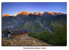 Catching the sunset (Dylan Toh) Tags: sunset mountain nature trek yulong dusk hiking filter teahouse guesthouse snowmountain jadedragon gnd everlook xueshan teahorse chinalijiangtigerleapinggorgehutiao