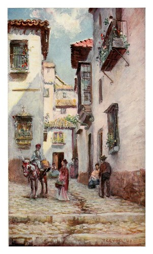 039-Granada-calle en Albaicin2-Southern Spain 1908- Trevor Haddon