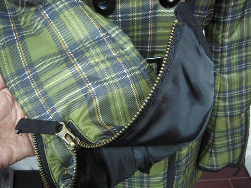 アニタ・アレンバーグ 中綿入りチェック柄コート