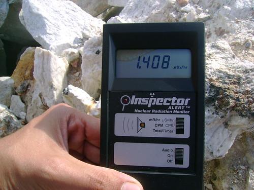 Radioatividade Elevada - Pedra de Granito em jazida no nordeste de Minas Gerais