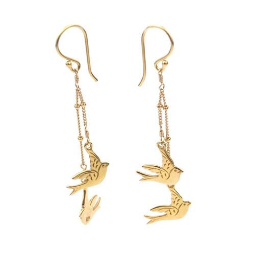 sacred accessories gold lovebird