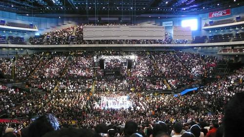 009年11月29日プロボクシングWBC世界フライ級タイトルマッチ王者内藤大助対挑戦者亀田興毅戦@さいたまスーパーアリーナ