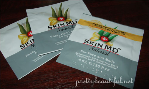 Skin MD Shielding Lotion + Sunscreen SPF15 sample sachets