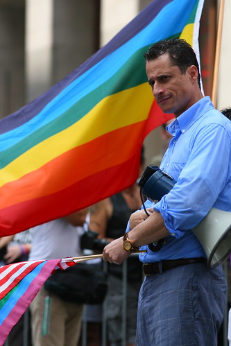 Congressman Anthony Weiner at Gay Pride in NYC by funfotoguy2