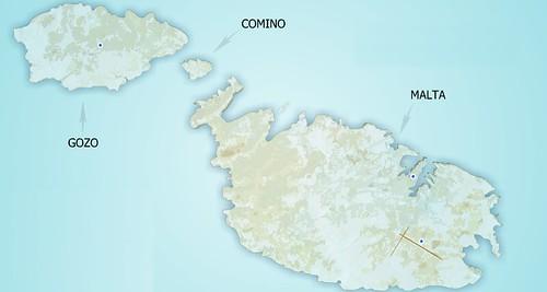 Mapa de la República de Malta