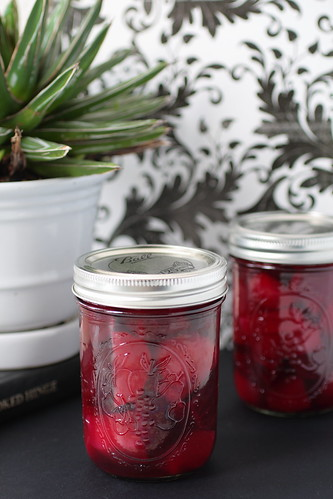 Jars of Pickled Beets