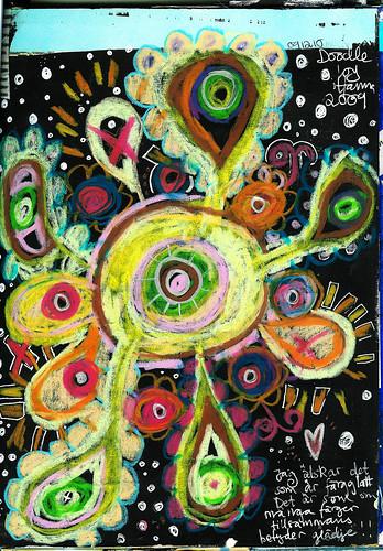 Crayon doodle page (Copyright Hanna Andersson)