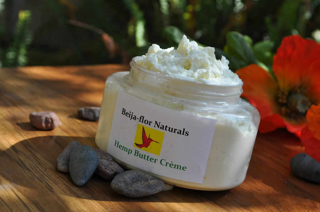 Organic Body Butter &Hair Moisturizer, Hemp Buttercream by Beija-Flor Naturals