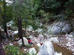 Canyon de Carciara par les ruisseaux de Mela/Carciara : arrivée au canyon