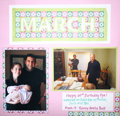 March 2009 scrapbook page