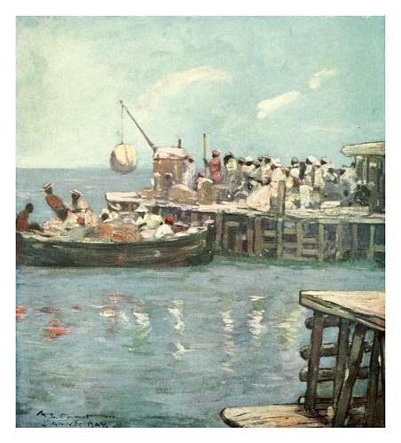 026-Un muelle en bahia St. Ann Jamaica-The West Indies 1905- Ilustrations Archibald Stevenson Forrest