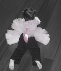 every little girl... ( Paige C. Photography ) Tags: pink blackandwhite baby girl ballerina child ribbon tutu selectivecoloring