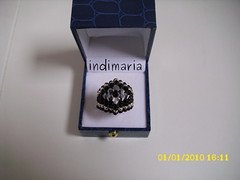 Con Alambre negro y plata (INDI-MARIA) Tags: anillos