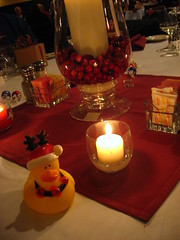 The tradional wedding duck