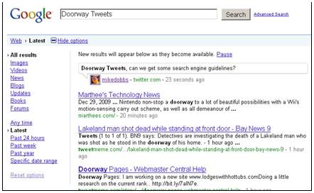 Will Google Slam the Door on 'Doorway Tweets?': What Real