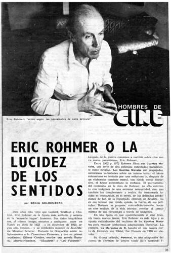 """""""Eric Rohmer o la lucidez de los sentidos"""", pag 1"""