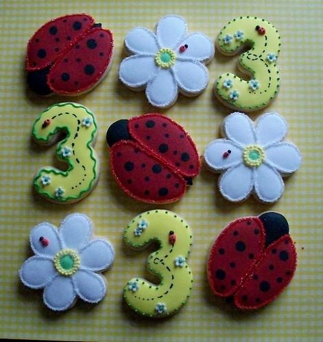 Ladybug and Flower Cookies