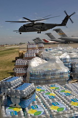 U.S. Helicopter Delivers Relief Supplies in Haiti