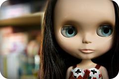 miss roni ~  (natsukigirl) Tags: doll bokeh veronica blythe   roni  ebl  margaretmeetsladybug