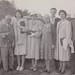 Bruce Andrew, Dr. Varden, K Baker, B Andrew, Mrs. Cander, Elsie and Don Andrew, 1958