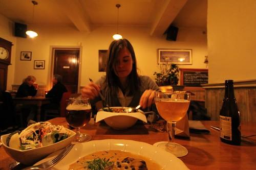 Sofie in De Swaan Restaurant, near Hasselt.
