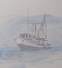 Blue Fog (1022 Sea Shell Ave) Tags: art beach acrylic fineart nautical watercolorartprints