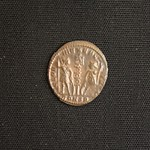"<b>372 Reverse</b><br/> The reverse of this coin features two soldiers with a standard between them, with the words GLORIA EXERCITUS (glory of the army) encircling. This image was very popular on coins minted during the reigns of the Constantine family. The mint mark CONSP indicates this coin was minted in Constantinople, modern day Istanbul.  Donated by Dr. Orlando ""Pip"" Qualley<a href=""http://farm3.static.flickr.com/2742/4351359139_cd8fa202df_o.jpg"" title=""High res"">∝</a>"