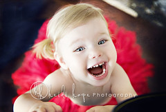 Happy Love Day! (Heidi Hope) Tags: red baby love girl smile toddler girly blueeyes valentine bigsmile valentinesday petticoat pettiskirt 18months happyvalentinesday heidihope