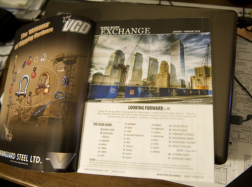 """Rebuild"" photo featured in Wire Rope Exchange 2010 Jan-Feb Issue"