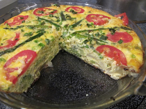 The inside of the quiche