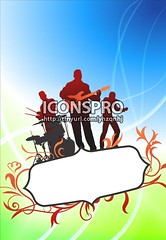 Live Music Band on Tropical Frame Background (iconspro) Tags: blue light musician music playing abstract green floral silhouette electric illustration drums design shiny pattern bright streak bass guitar vibrant background live band vivid jazz wave frame singer distributed instrument funk tropical acoustic drummer glowing backlit rap rocknroll popmusic vector rb soulmusic brightlylit bleus digitallygeneratedimage isyndica